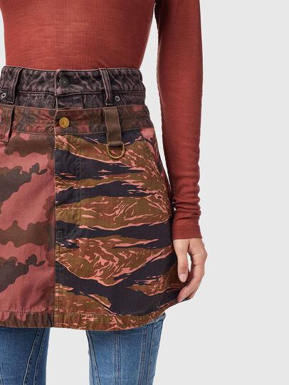 Diesel - O-GIU, Pink/Brown - Skirts - Image 3