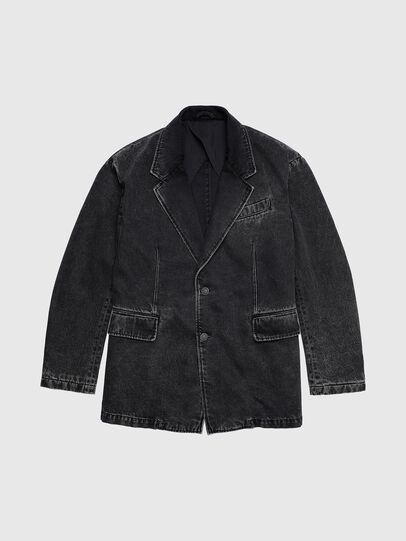 Diesel - D-BLAZ, Black - Denim Jackets - Image 1