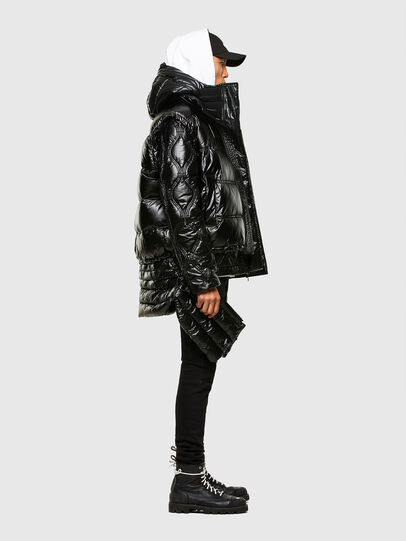 Diesel - W-CRAWFORD-SHINY, Black - Winter Jackets - Image 6