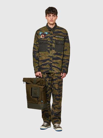 Diesel - SHINOBI, Green Camouflage - Backpacks - Image 6