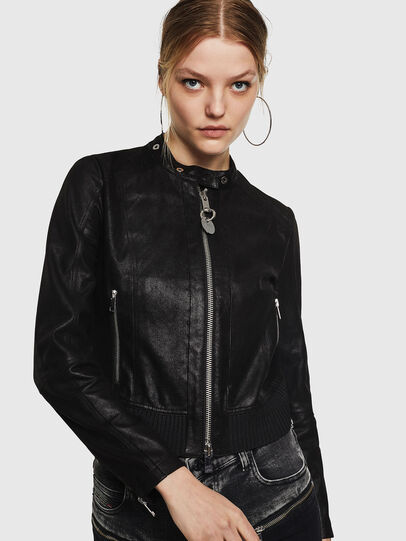 Diesel - L-LYSSA-G, Black - Leather jackets - Image 1
