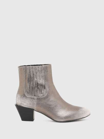 Diesel - D-TEXANNE CH, Silver - Ankle Boots - Image 1