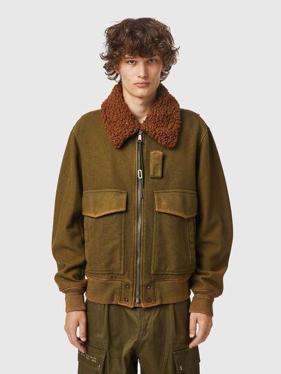 Diesel - W-WELTOM, Olive Green - Winter Jackets - Image 1