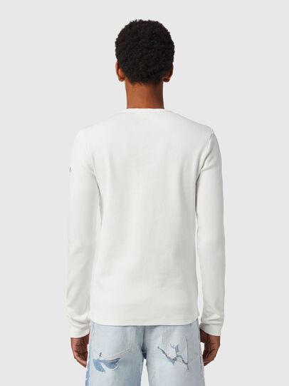 Diesel - D-RIBBER-LS, White - T-Shirts - Image 3