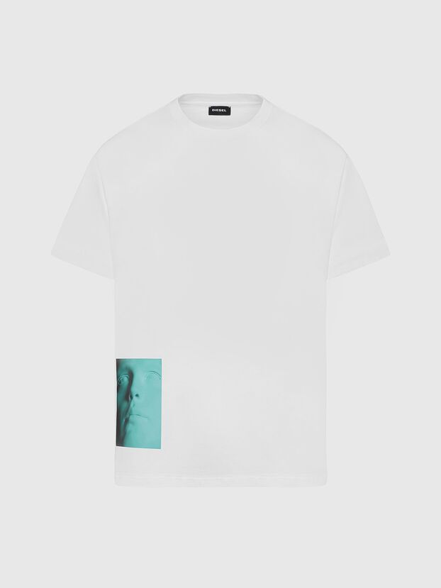 T-JUST-SLITS-X81, White - T-Shirts