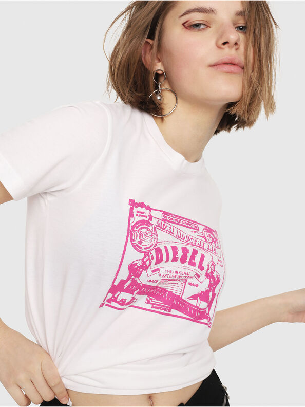 T-SILY-C3, White/Pink - T-Shirts