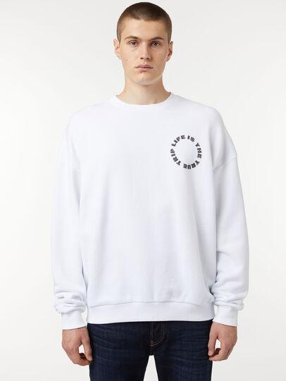 Diesel - S-MART-B3, White - Sweaters - Image 1