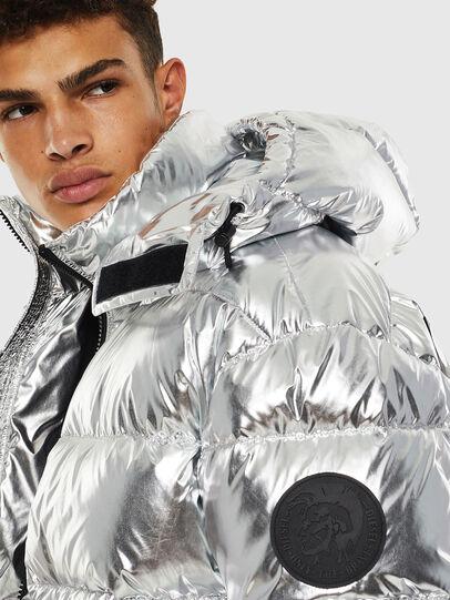 Diesel - W-SMITH-SILVER, Silver - Winter Jackets - Image 4