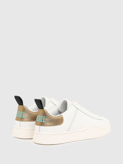 Diesel - S-CLEVER LOW LACE W, White/Bronze - Sneakers - Image 3