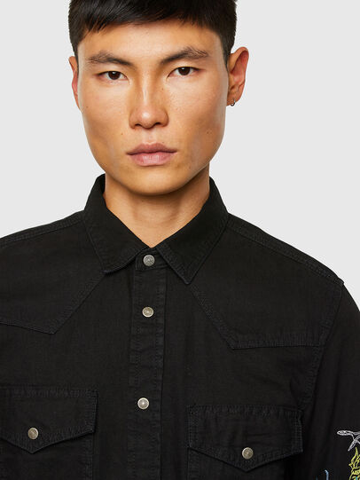 Diesel - D-EAST-P1-SP, Black - Denim Shirts - Image 3