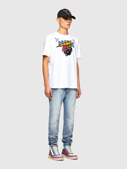 Diesel - CL-T-JUST-O1, White - T-Shirts - Image 7