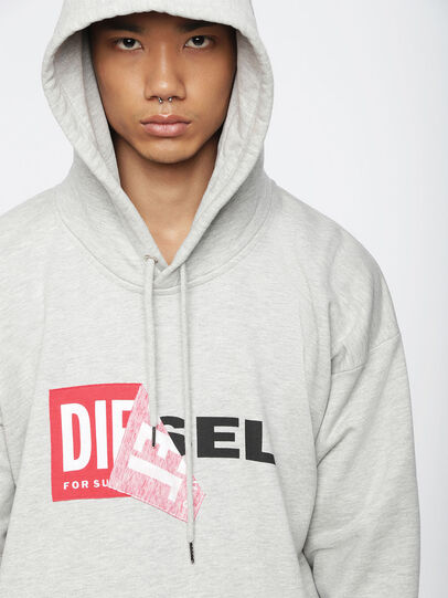 Diesel - S-ALBY, Light Grey - Sweaters - Image 3