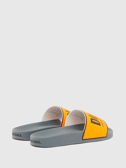 Diesel - SA-VALLA, Black/Orange - Slippers - Image 3