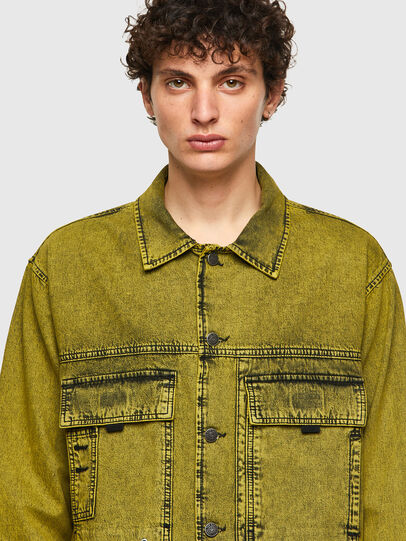 Diesel - D-FITZ-SP, Yellow - Denim Shirts - Image 3