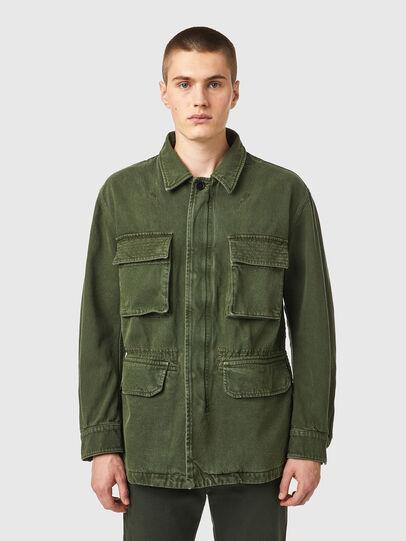Diesel - D-NOVO-SP, Olive Green - Denim Jackets - Image 1