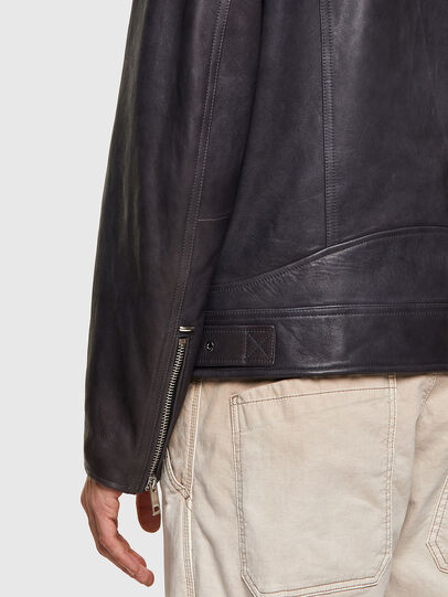 Diesel - L-CODY-NEW, Black - Leather jackets - Image 6