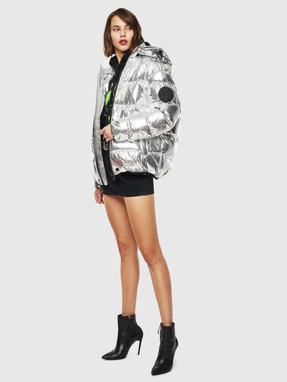 Diesel - W-SMITH-SILVER, Silver - Winter Jackets - Image 7
