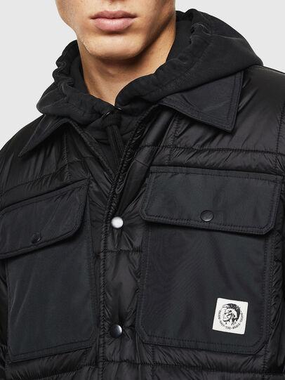 Diesel - J-WELLES, Black - Winter Jackets - Image 5
