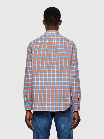 Diesel - S-MOI-CHK-A, Blue/Pink - Shirts - Image 2