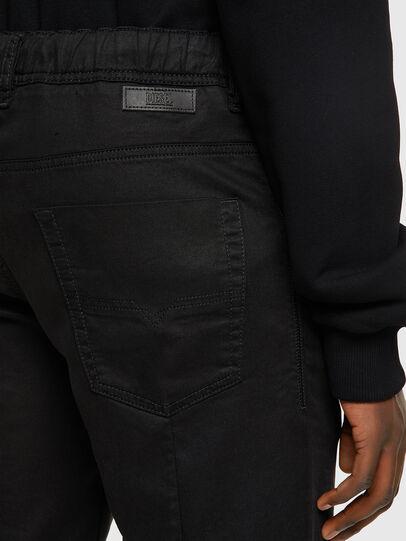 Diesel - D-KROOSHORT JOGGJEANS, Black/Dark grey - Shorts - Image 4