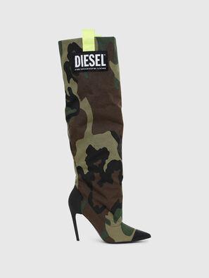 D-SLANTY HOTK, Green Camouflage - Boots
