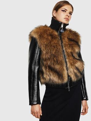 L-BURG, Black - Leather jackets