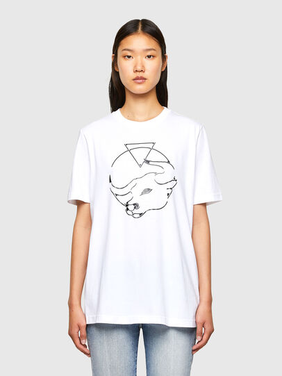 Diesel - CL-T-JUST-O, White - T-Shirts - Image 2