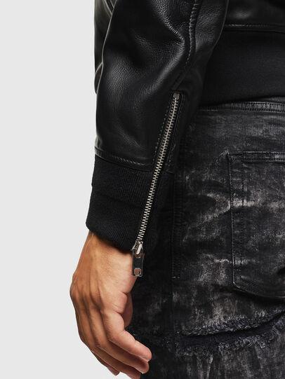 Diesel - L-JOSEPH, Black - Leather jackets - Image 6