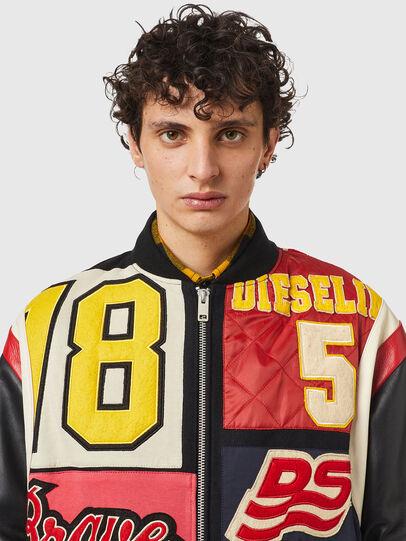Diesel - L-KEIR, Black/Red - Leather jackets - Image 3