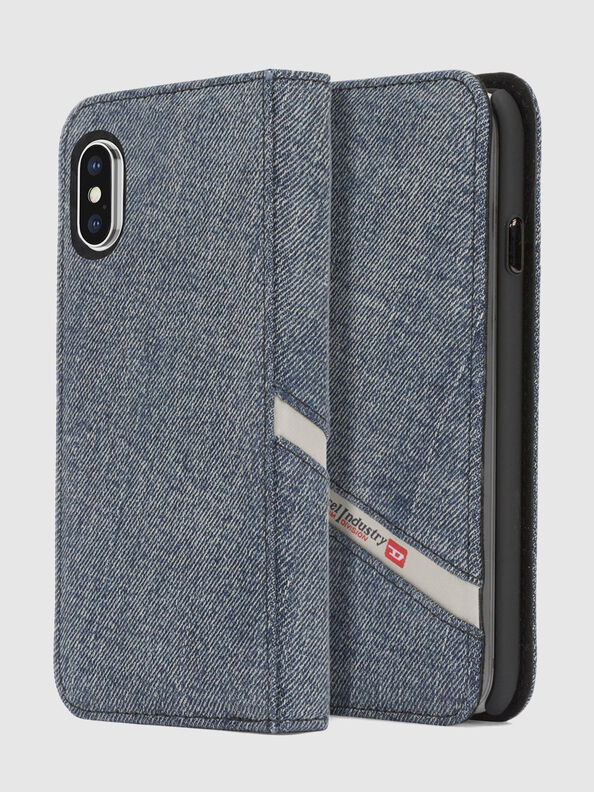 DENIM IPHONE X FOLIO,  - Flip covers