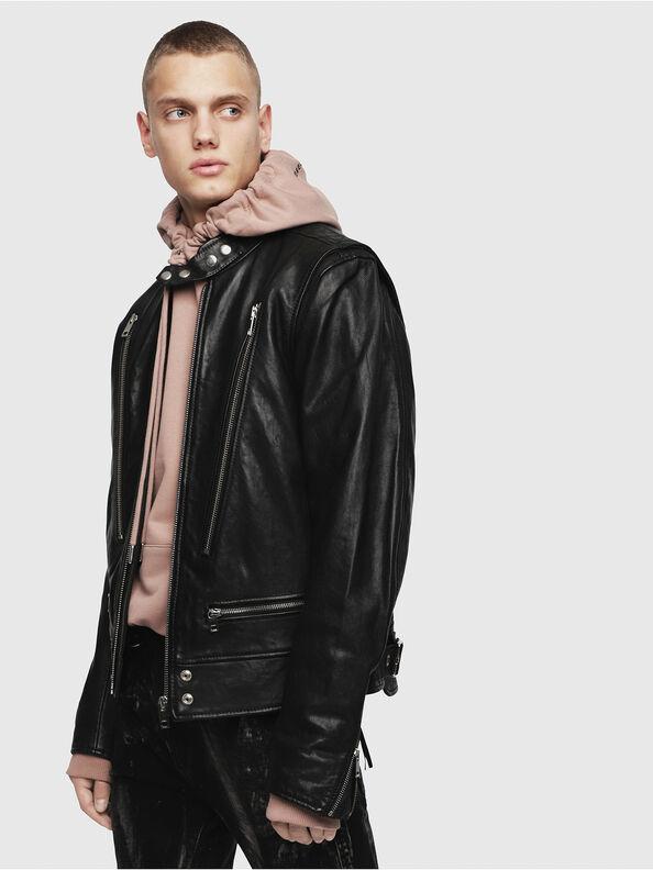 L-KOJI, Black - Leather jackets