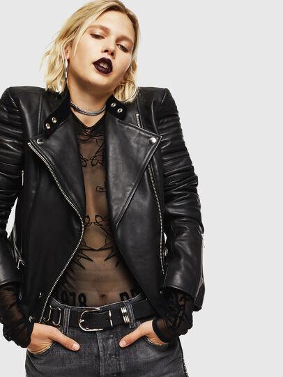 Diesel - L-IGE,  - Leather jackets - Image 4
