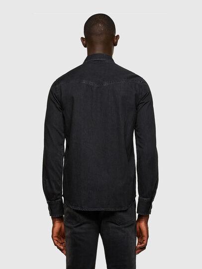 Diesel - D-EAST-P1, Black - Denim Shirts - Image 2