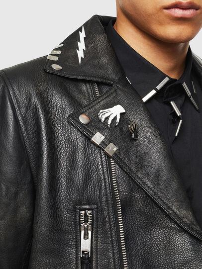 Diesel - L-GOTIV-A, Black - Leather jackets - Image 5