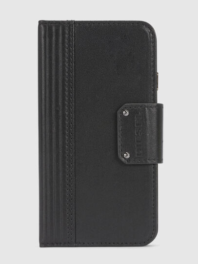 Diesel - BLACK LINED LEATHER IPHONE 8/7 FOLIO,  - Flip covers - Image 3