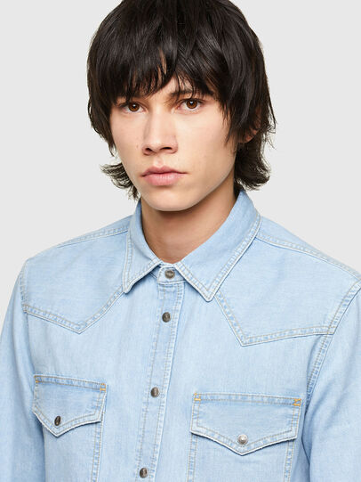 Diesel - D-EAST-P1, Light Blue - Denim Shirts - Image 4