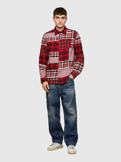Diesel - S-MORRIS, Red/White - Shirts - Image 5