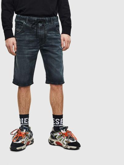 Diesel - D-KROOSHORT JOGGJEANS, Dark Blue - Shorts - Image 1