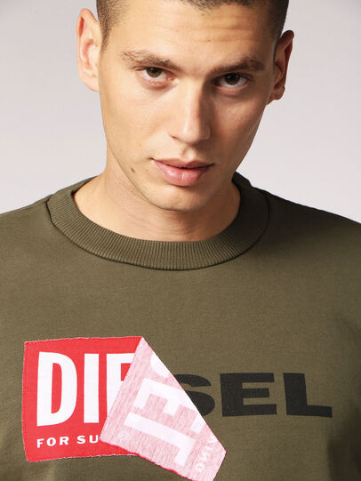Diesel - S-SAMY, Military Green - Sweaters - Image 3