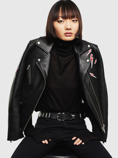 Diesel - CL-L-LYFA-BIGM, Black - Leather jackets - Image 5