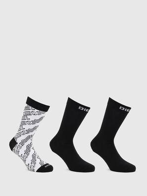 SKM-HERMINE-THREEPAC, Black/White - Socks