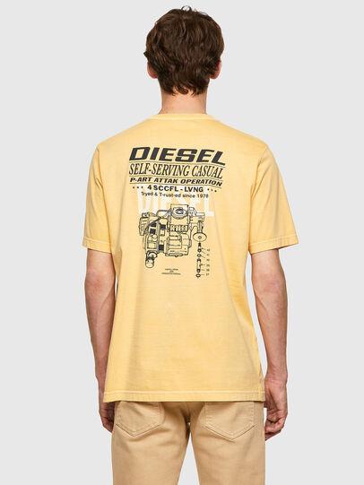 Diesel - T-JUBINDY-B1, Yellow - T-Shirts - Image 2
