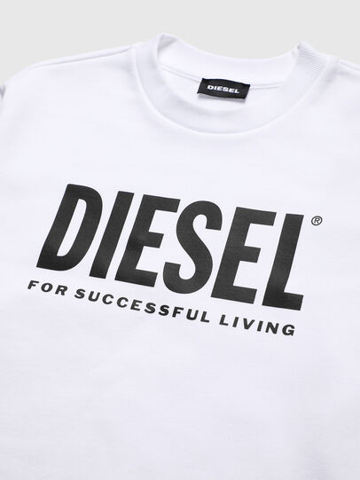 Diesel - SCREWDIVISION-LOGO O, White - Sweaters - Image 3