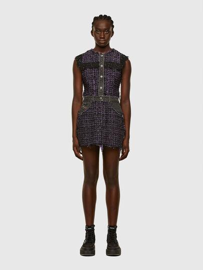 Diesel - D-OLGA, Black/Violet - Dresses - Image 1