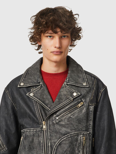 Diesel - L-CONWAY, Black - Leather jackets - Image 3