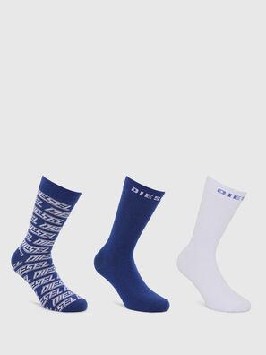 SKM-RAY-THREEPACK, Blue/White - Socks