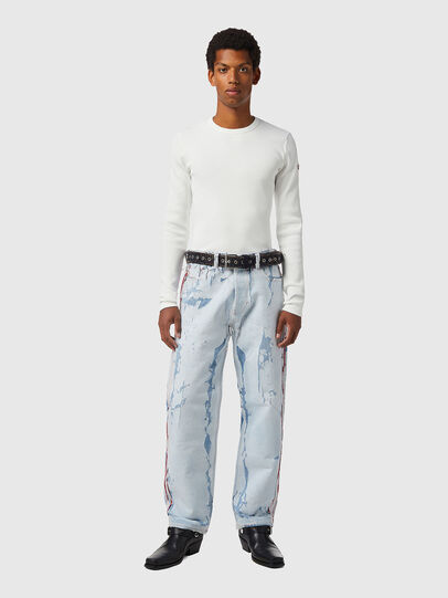 Diesel - D-RIBBER-LS, White - T-Shirts - Image 6