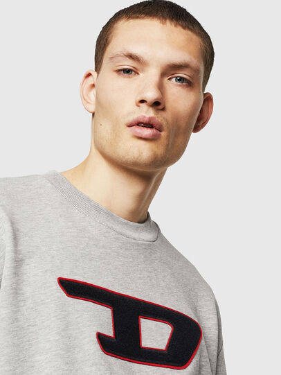 Diesel - S-CREW-DIVISION-D, Light Grey - Sweaters - Image 4