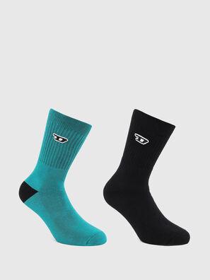SKM-RAY-TWOPACK, Black/Blue - Socks