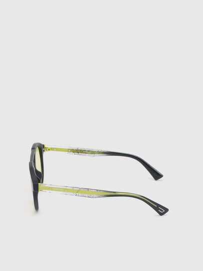Diesel - DL0280, Black/Yellow - Sunglasses - Image 3